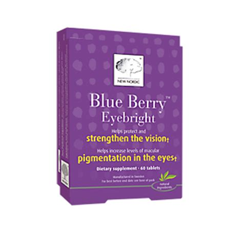 New Nordic Blueberry Eye Bright 60tabs blue berry eyebright 60 tablets by new nordic at the