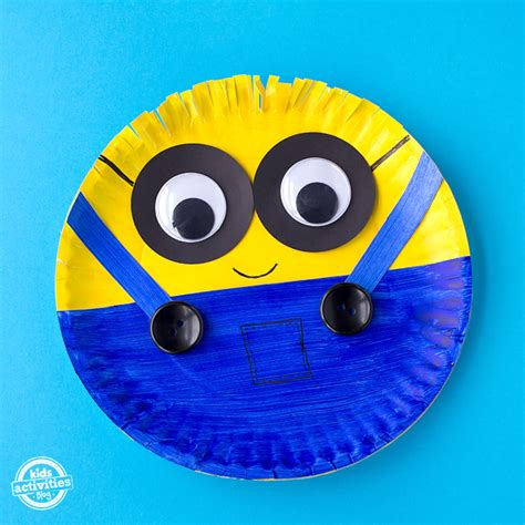 Simple Crafts With Paper Plates - easy paper plate minion craft