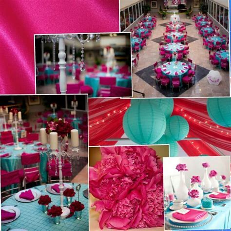 21 best Aqua Blue and Hot Pink Wedding Motif images on