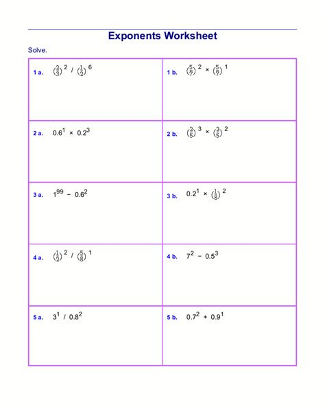 Multiplying And Dividing Exponents Worksheet by Printables Add Subtract Multiply Divide Fractions