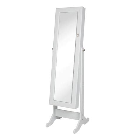 standing mirror jewelry armoire white best choice products 174 white mirrored jewelry cabinet