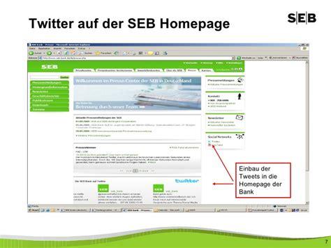 seb bank frankfurt praxisbeispiel seb bank twittwoch frankfurt