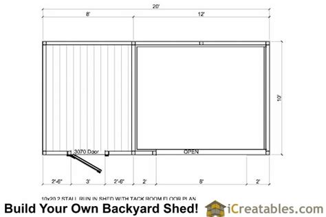 10 X 20 Shed With Floor - 10x20 run in shed with tack room plans