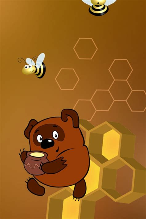 Honey Hunny The Pooh Iphone All Hp winnie the pooh with honey wallpaper for iphone 4