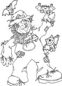 scarecrow coloring pages printable scarecrow coloring pages coloring home