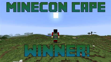 Minecon Cape Giveaway - minecon 2013 cape giveaway winner youtube