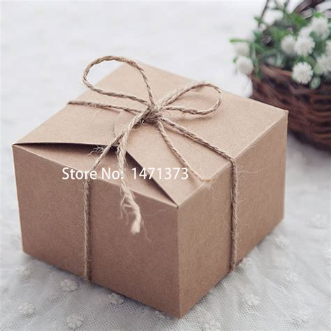 Wedding Favors Packaging by 50pcs Rustic Wedding Favors Boxes Packaging Snak