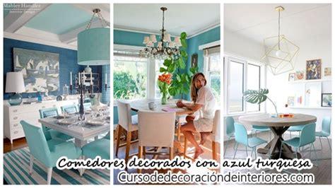 comedores decorados 34 comedores decorados con azul turquesa decoracion de