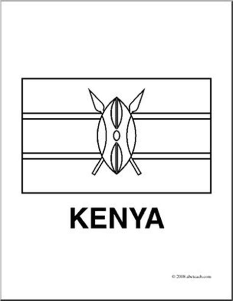 clip art flags kenya coloring page i abcteach com