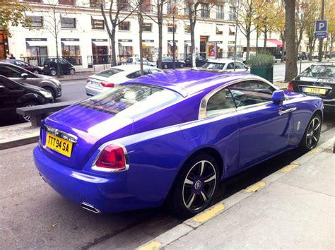 purple rolls purple rolls royce wraith stuns in paris