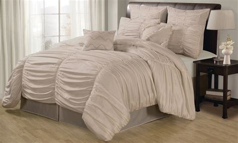 ruched comforter set groupon goods