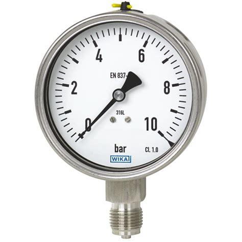 Pressure Wika 212 53 063 25 Kg Cm2 1 4 Npt Back Bourdon Pressure Stainless Steel 232 50 233