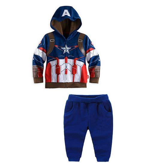 2016 autumn boys clothing set captain america iron batman tracksuit