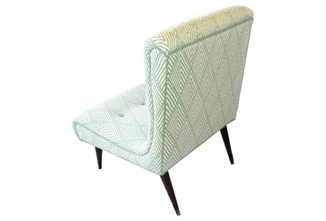 Small Tufted Chair Midcentury Tufted Slipper Chair For Bedroom Living Room