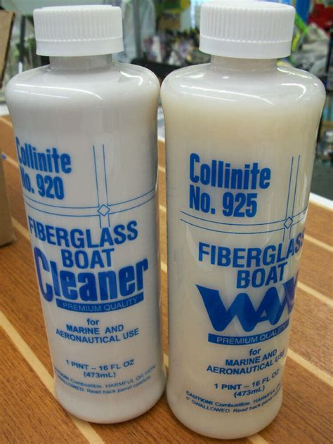 what to wax boat with collinite fiberglass boat cleaner wax set 920 925 ebay