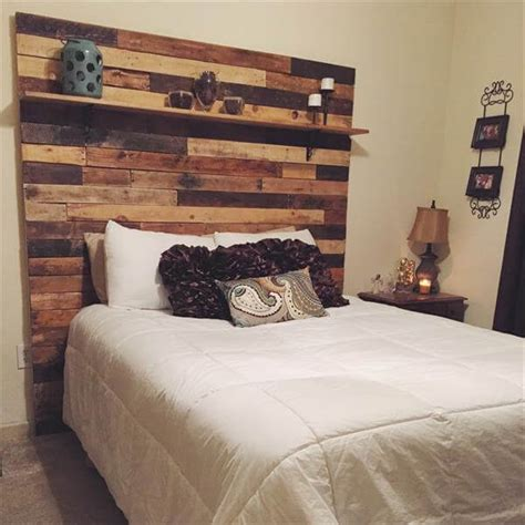 headboard made of pallets diy pallet headboard with display shelf 101 pallets