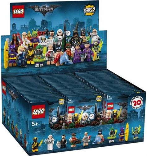Lego 71020 Batman Cmf Series 2 Complete 20 Minifigures lego batman collectible minifigures series 2 71020 official display and blind bag images