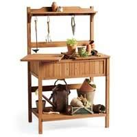 smith and hawken potting bench pinterest