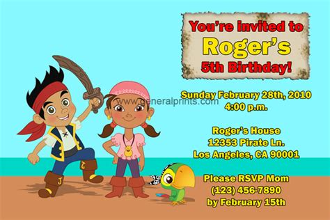 birthday party invitations pirate pictures party