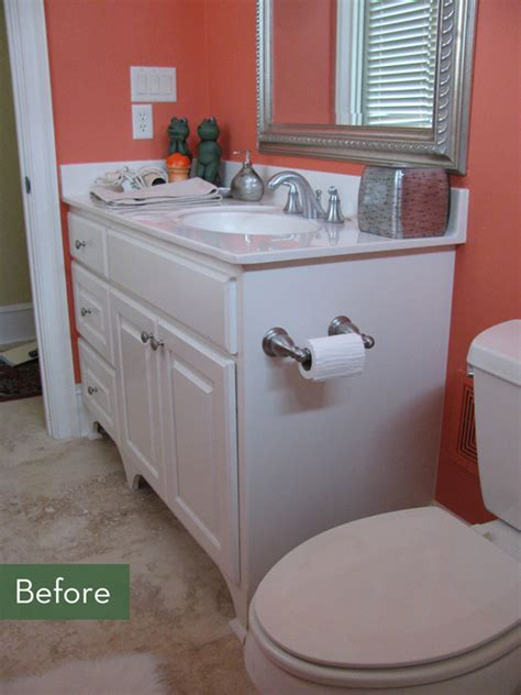 before and after bathroom makeover before and after a glamorous bathroom makeover curbly