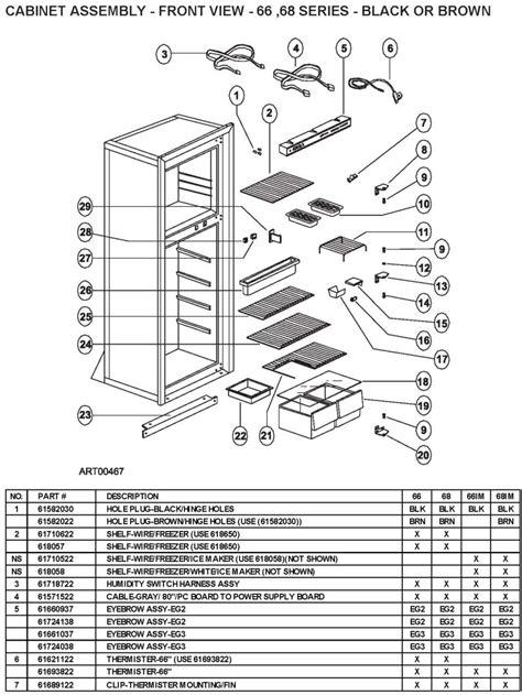 refrigerator diagram refrigerator parts norcold 982 refrigerator parts
