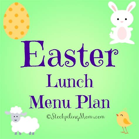easter lunch menu plan