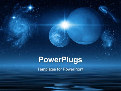 templates powerpoint space space scene powerpoint template background of art digital