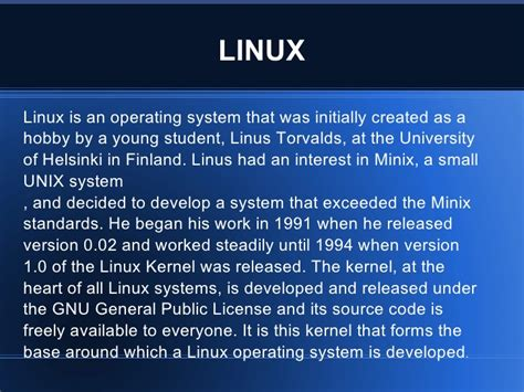 Linux Tutorial Powerpoint | linux ppt