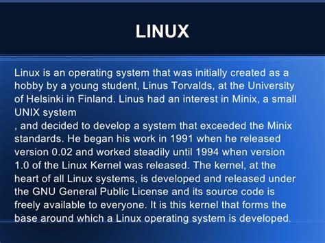 linux tutorial powerpoint presentation linux ppt