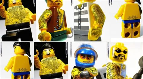 lego tattoo pilot pen lego tattoo covered minifigures part of pilot pen ad