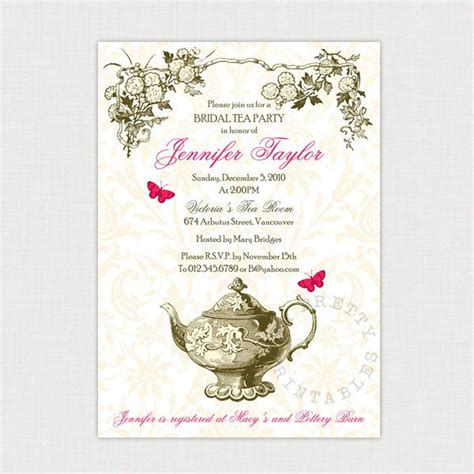 tea invitations free template tea invitations invitations ideas