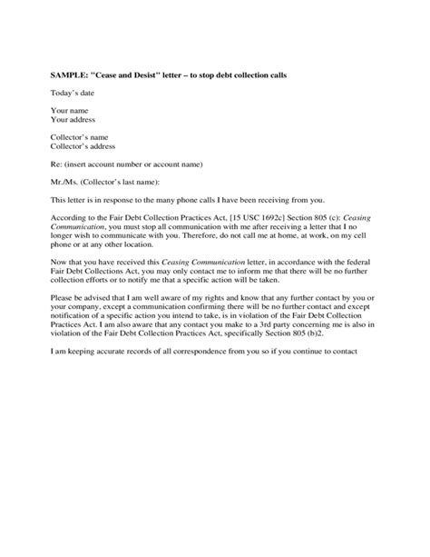 sle cease and desist letter template free download