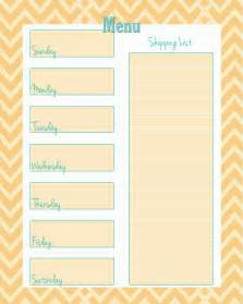 cing menu planner template free weekly menu planner printable 4 colors cupcake