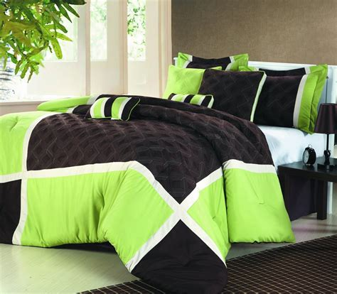 black and green comforter sets lime green and black bedding sweetest slumber my new