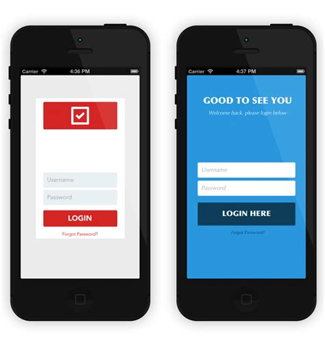 app interface template free ios ui templates with a sleek minimalist flat style