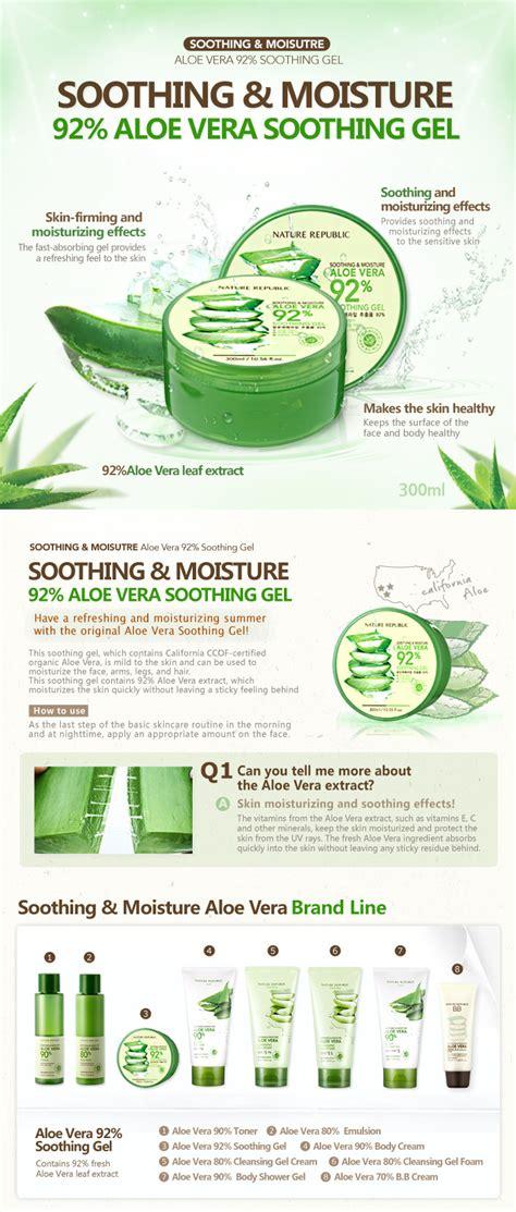 Aloe Vera Nature Republic 25 Ml nature republic aloe vera soothing gel 92 300ml soothing