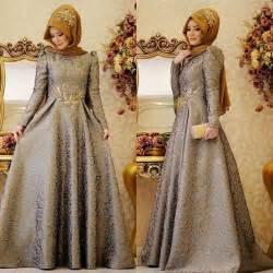 model baju gaun muslimah artis ragam model busana gaun pesta modern 2017 wanita berhijab