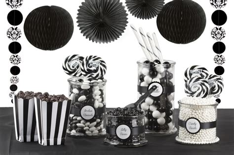 Black And White Candy Buffet Oh Nuts 174 Black And White Buffet