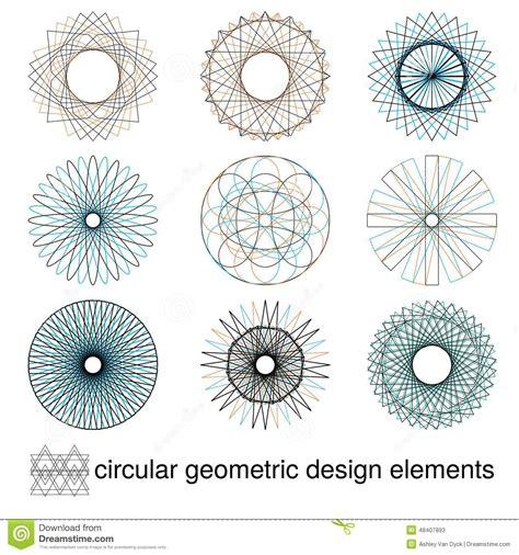 design elements symmetry abstract symmetrical geometric elements stock vector
