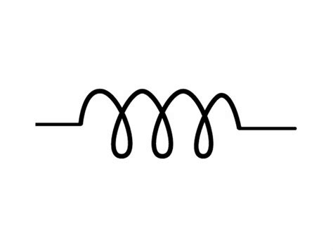 the wikipremed mcat course image archive circuit symbol for an inductor