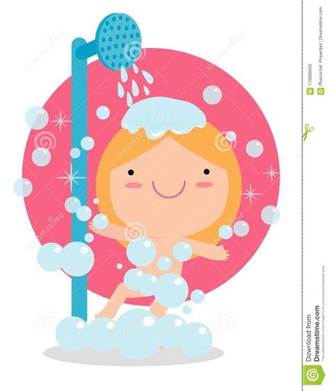 ragazze doccia ragazza in un bagno prende una buona doccia bambini