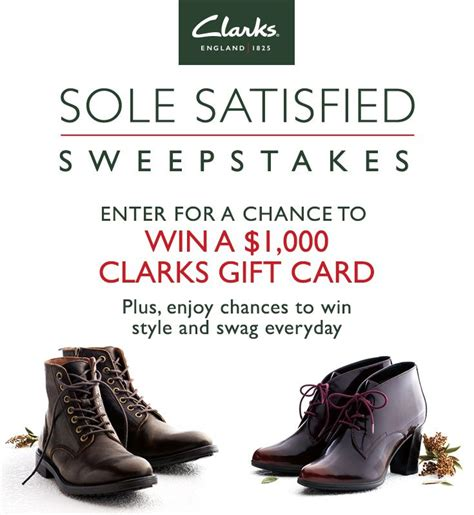 Clarks Gift Card - enter to win a 1 000 clarks gift card satisfy your appetite for style and get