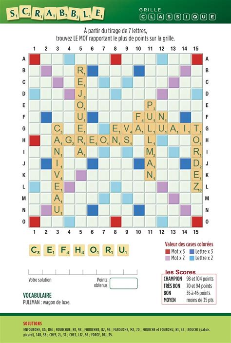 Grille De Scrabble by Scrabble Magazine Nantes Seniors
