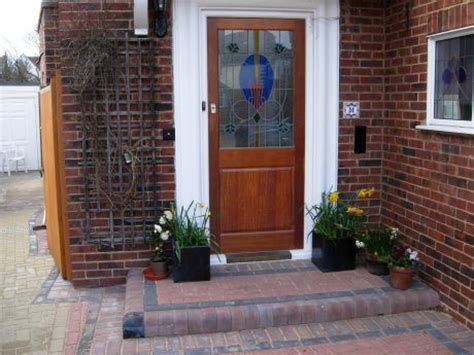 Single Driveway Using Block Paving Coastal Paving Front Door Steps Design