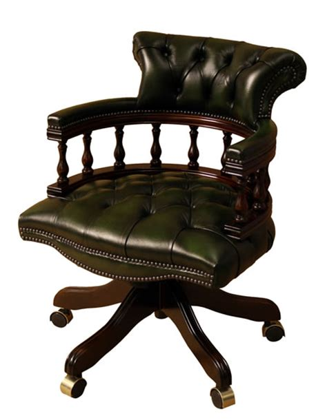 Leather Captains Chair by Captains Chair Leather Yew And Mahogany Reproduction