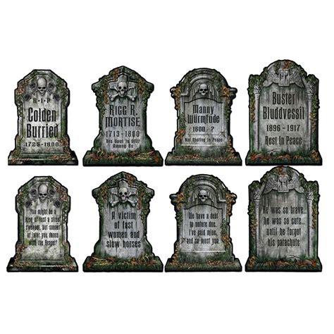 ebay decoration 4 cemetery graveyard tombstone diecut cutouts
