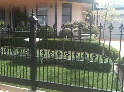 front yard iron fence front fences melbourne front yard fencing front garden