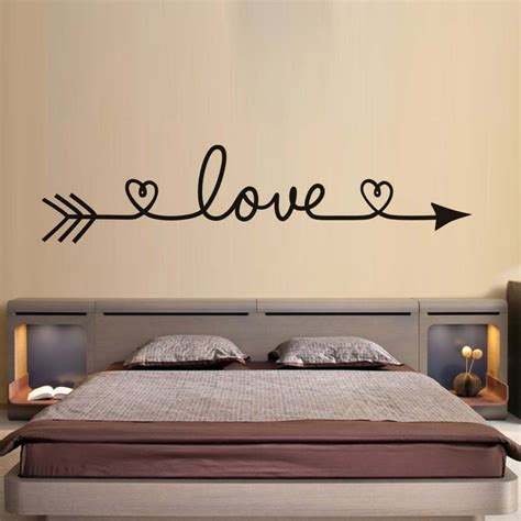bedroom wall decal wall decals damask wall decals by dctop love arrow wall stickers romantic bedroom decals