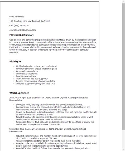 Independent Evaluation Letter Distributor Sales Representative Resume Order Custom Essay