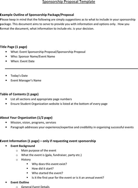 how to write a sponsorship template how to write a sponsorship template sponsorship